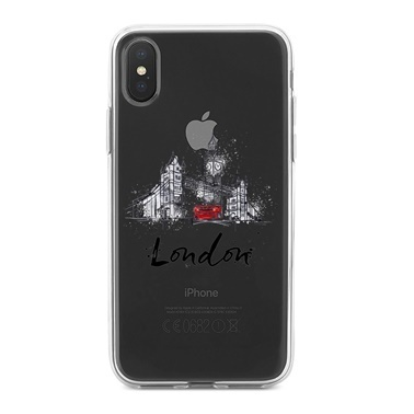 Lopard iPhone Xs Max Kılıf Silikon Arka Koruma Kapak Londra Desenli Renkli